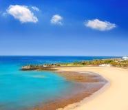 Praia de Arrecife Lanzarote Playa del Reducto Imagem de Stock Royalty Free