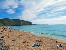 Praia de Arrifana, Portugal fotos de stock royalty free