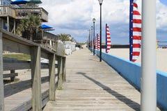 Praia de Atlântico do passeio à beira mar Fotografia de Stock