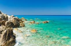 Praia de Avali, Lefkada Imagem de Stock