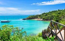 Praia de Azeda em Buzios, Rio de janeiro fotos de stock royalty free