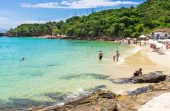 Praia de Azeda em Buzios, Rio de janeiro foto de stock