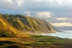 Praia de Azkorri em getxo Imagens de Stock