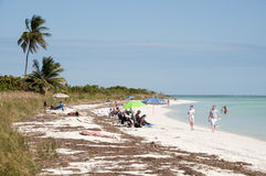 Praia de Bahia Honda em chaves de Florida Fotografia de Stock