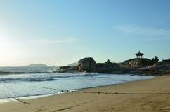 Praia de BaiBuSha da montanha de Putuo fotos de stock