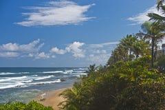 Praia de Bajamara, San Juan, Porto Rico Fotografia de Stock