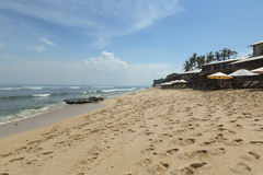 A praia de Balangan é um do mais bonitos em Bali Foto de Stock Royalty Free