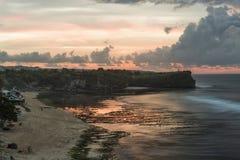 A praia de Balangan é um do mais bonitos em Bali Imagens de Stock
