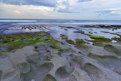 A praia de Balangan é um do mais bonitos no Bal Fotos de Stock