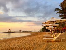 Praia de Bali Imagens de Stock Royalty Free