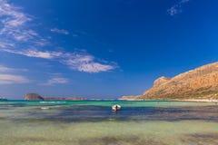 Praia de Balos e lagoa, prefeitura de Chania, Creta ocidental, Grécia Imagens de Stock Royalty Free