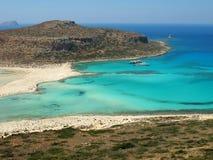 Praia de Balos na Creta fotografia de stock royalty free