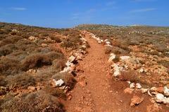 Praia de Balos no console de Crete em Greece Fotografia de Stock Royalty Free