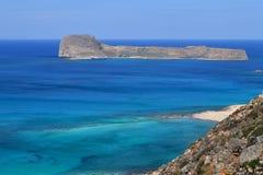 Praia de Balos no console de Crete em Greece Imagem de Stock