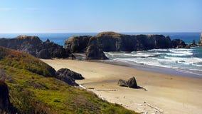 Praia de Bandon, costa cênico de Oregon Fotos de Stock Royalty Free
