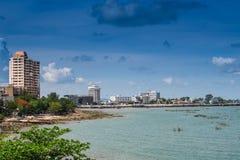 Praia de Bangsaen na província de Chonburi em Tailândia Imagem de Stock Royalty Free