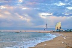 Praia de Barcelona fotografia de stock