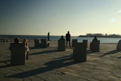 Praia de Barcelona, Spain Fotos de Stock Royalty Free