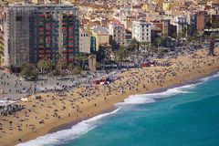 Praia de Barceloneta Fotografia de Stock