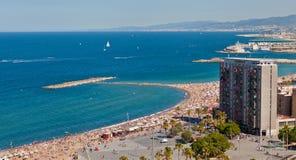 Praia de Barceloneta Foto de Stock