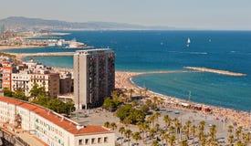 Praia de Barceloneta Imagens de Stock Royalty Free