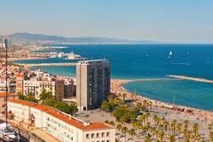 Praia de Barceloneta Imagem de Stock
