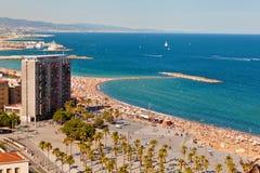 Praia de Barceloneta Imagens de Stock