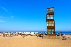 Praia de Barceloneta - Espanha de Barcelona fotografia de stock