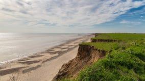 Praia de Barmston, equitação do leste de Yorkshire, Reino Unido imagens de stock royalty free