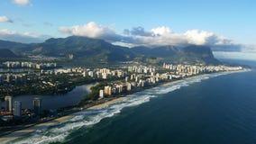 A praia de Barra faz Rio de janeiro, Brasil Imagens de Stock Royalty Free