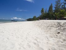 Praia de Batu Ferringhi, Penang, Malásia fotografia de stock royalty free
