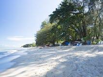 Praia de Batu Ferringhi, Penang, Malásia imagem de stock