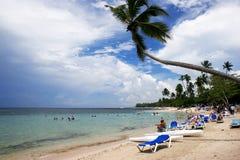 Praia de Bayahibe fotografia de stock