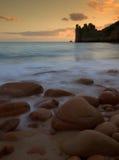 Praia de Beauport em Jersey Imagem de Stock