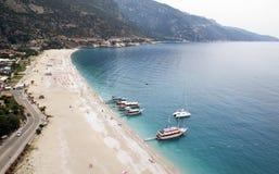 Praia de Belcekiz - Oludeniz/Fethiye Imagens de Stock