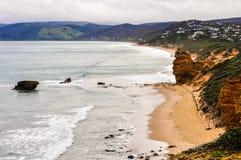 Praia de Bell na grande estrada do oceano em Austrália imagem de stock