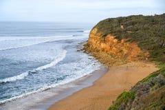 Praia de Bels perto de Torquay, Austrália Imagens de Stock Royalty Free