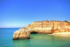 Praia de Benagil in the Algarve Portugal Stock Image