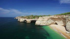 Praia de Benagil beach on atlantic coas stock video