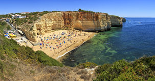 Praia de Benagil beach on atlantic coast, Algarve, Portugal. Royalty Free Stock Image