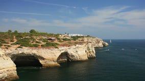 Praia de Benagil beach on atlantic coast, Algarve stock video