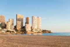 Praia de Benidorm Fotografia de Stock Royalty Free