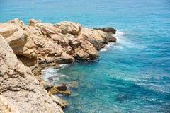 Praia de Benidorm no dia de verão Imagens de Stock