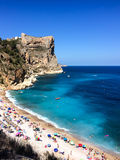 Praia de Benitachell na Espanha Imagens de Stock