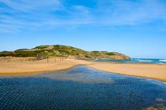 Praia de Binimela em Menorca Spain Imagens de Stock