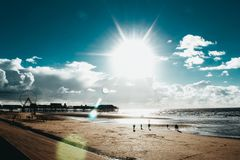 Praia de Blackpool imagem de stock royalty free