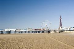 Praia de Blackpool fotografia de stock