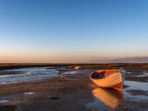 Praia de Blakeney do por do sol Fotos de Stock
