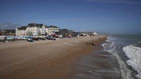 Praia de Bognor Regis e costa sul ocidental Inglaterra Reino Unido de Sussex da frente marítima filme