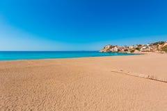 Praia de Bolnuevo em Mazarron Múrcia na Espanha fotos de stock